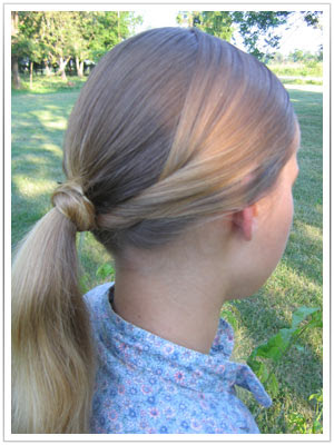 A quick and simple 1860s hairstyle.