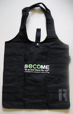 Cotton reusable shopping bag from becomeasia.org
