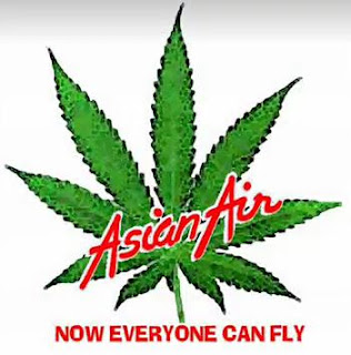Asian Air Now Everyone can fly T-shirt: Parody of Air Asia