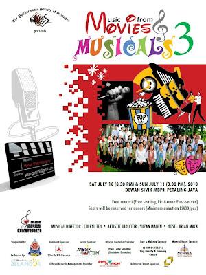 Poster for Selangor Philharmonic Society free concert