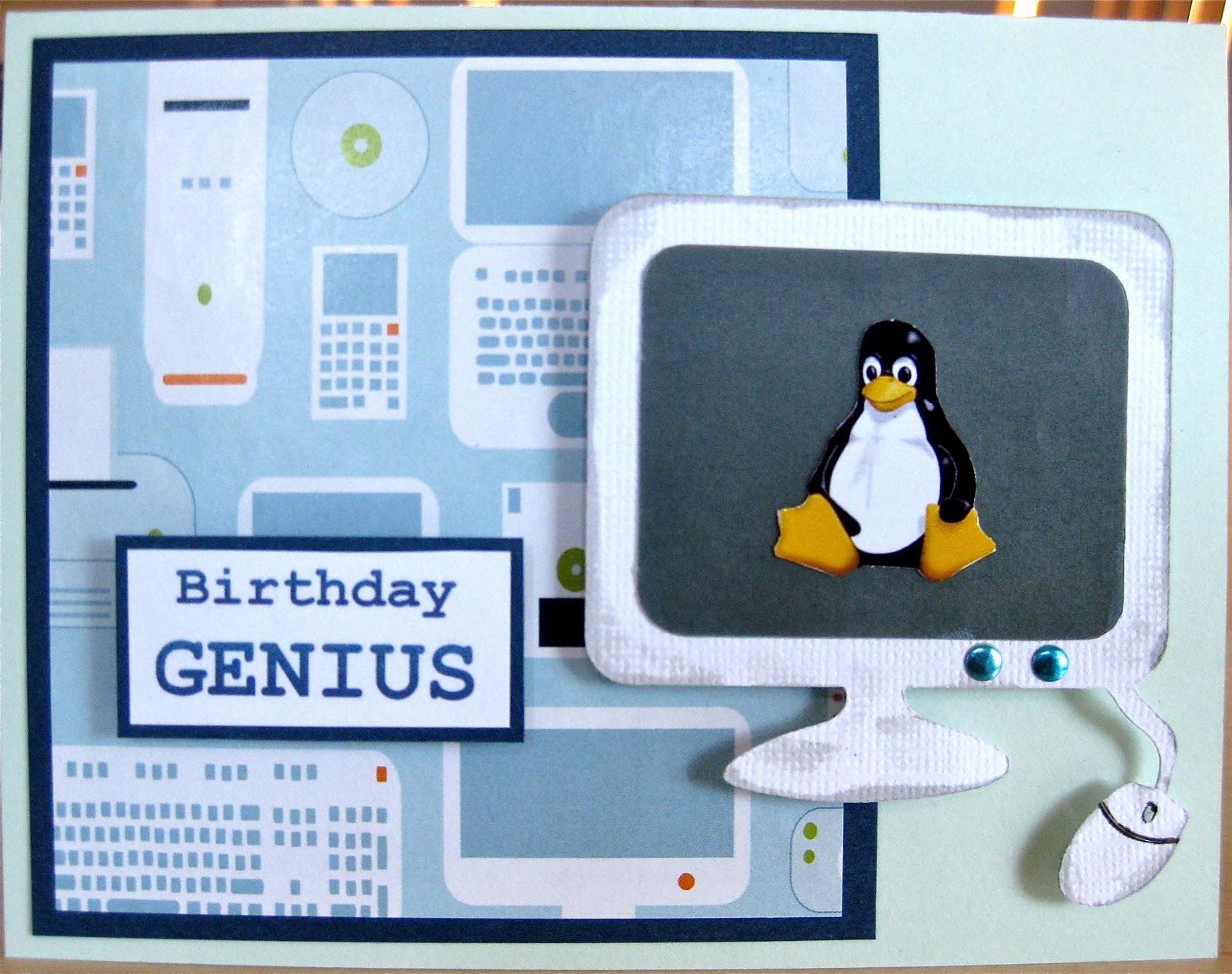 Computer Genius Birthday Card
