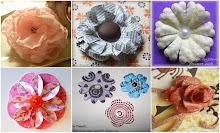 Как делать самостоятельно разные цветы