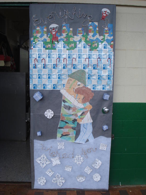 Christmas Door Decorating Contest Ideas For School : Aiea high school student activities holiday door