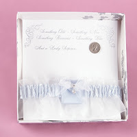 Sixpence Blue Satin Garter