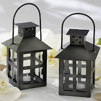 Black Mini Lantern Tea Light Candle Holders