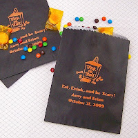 Personalized 6 x 8 Halloween Cake and Candy Bags