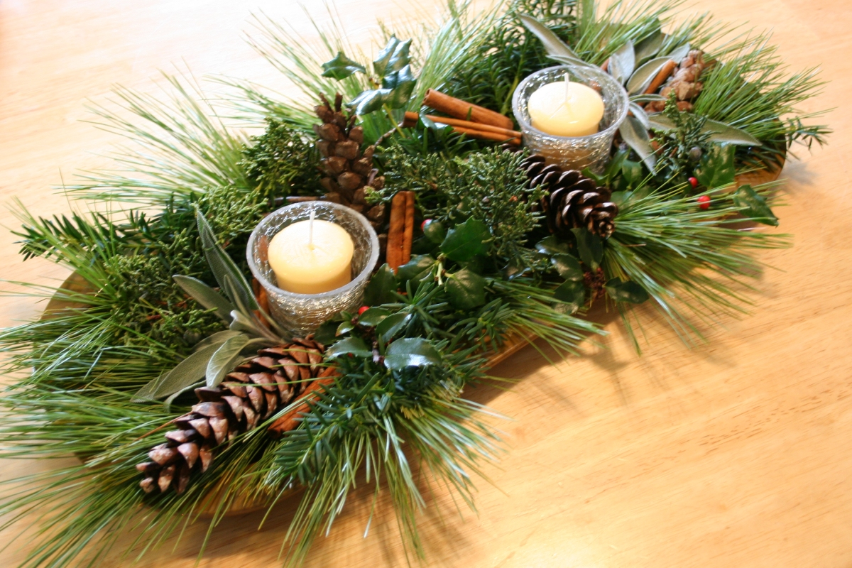 Ideas for winter wedding centerpieces Natural decorating