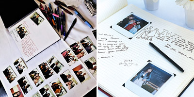 Photo booth wedding guest books