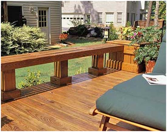 Deck Seating Ideas http://garden-impressions.blogspot.com/