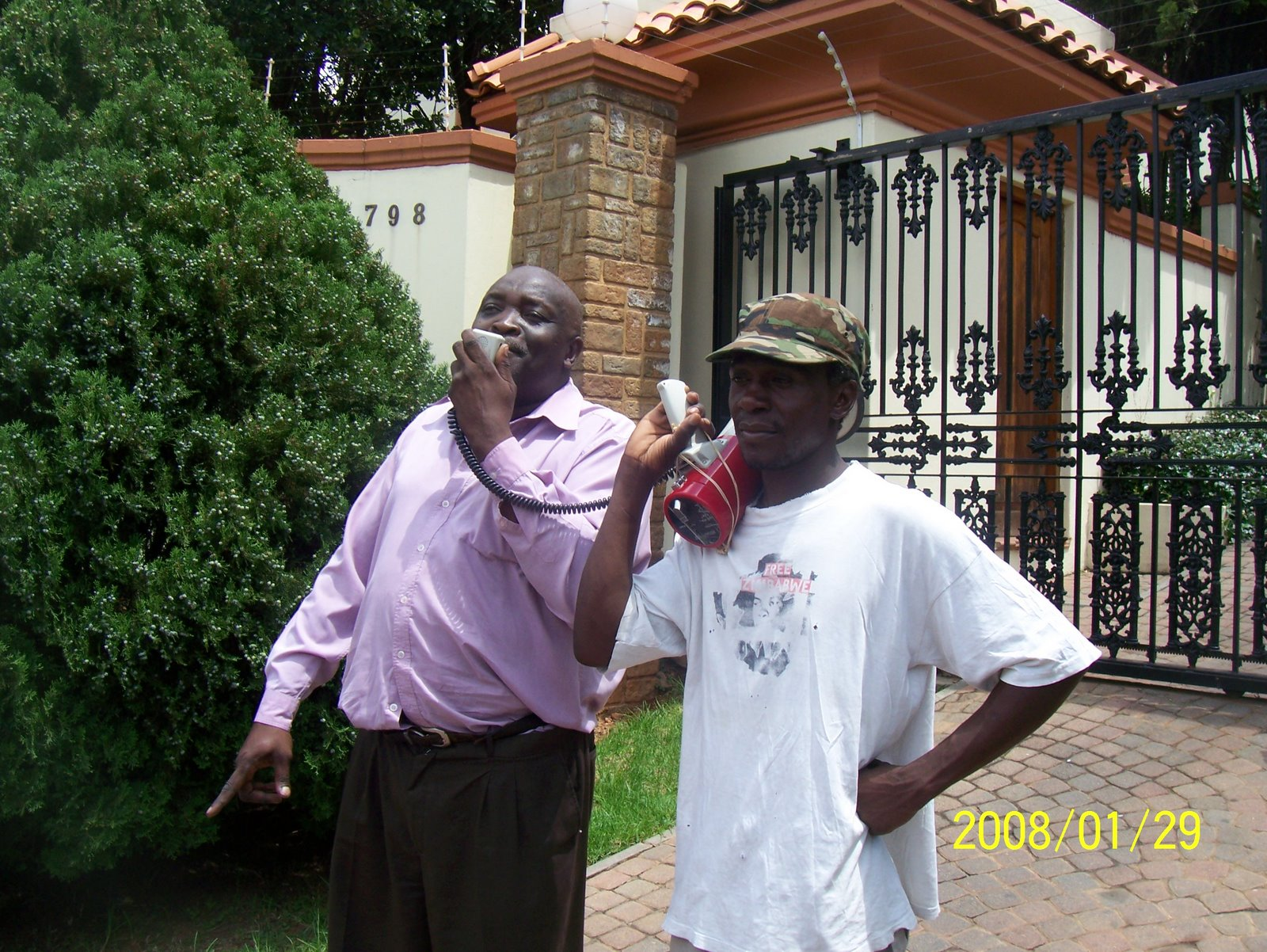 Yes, we were at the Zim Embassy, Pretoria (29/01/2008)