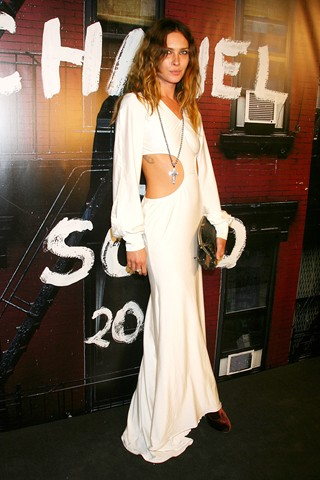 American model Erin Wasson brought the sex-factor to the event in a cut out