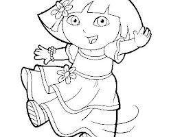 Dora The Explorer Coloring Pages Online