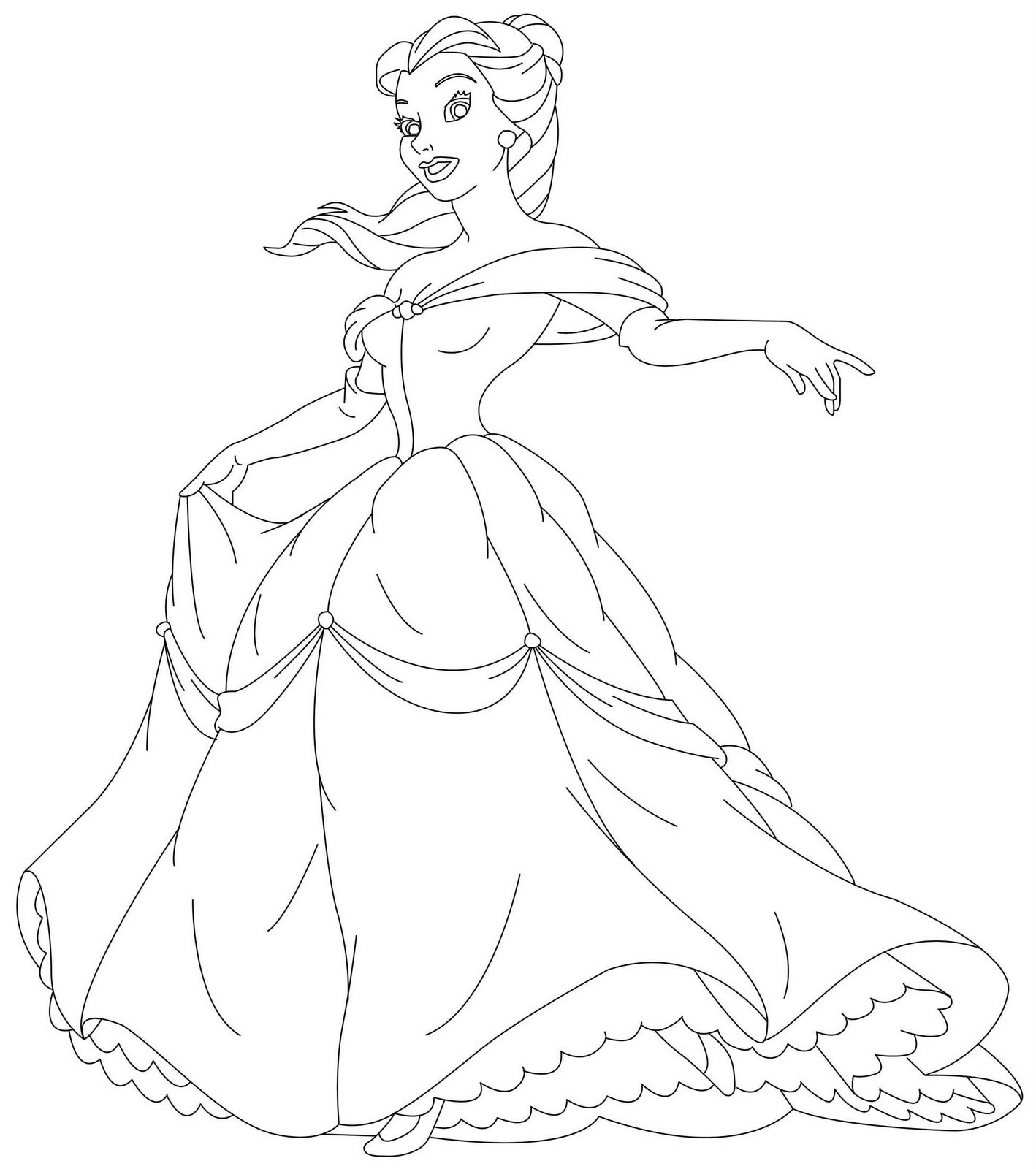 coloring pages and princess - photo#21