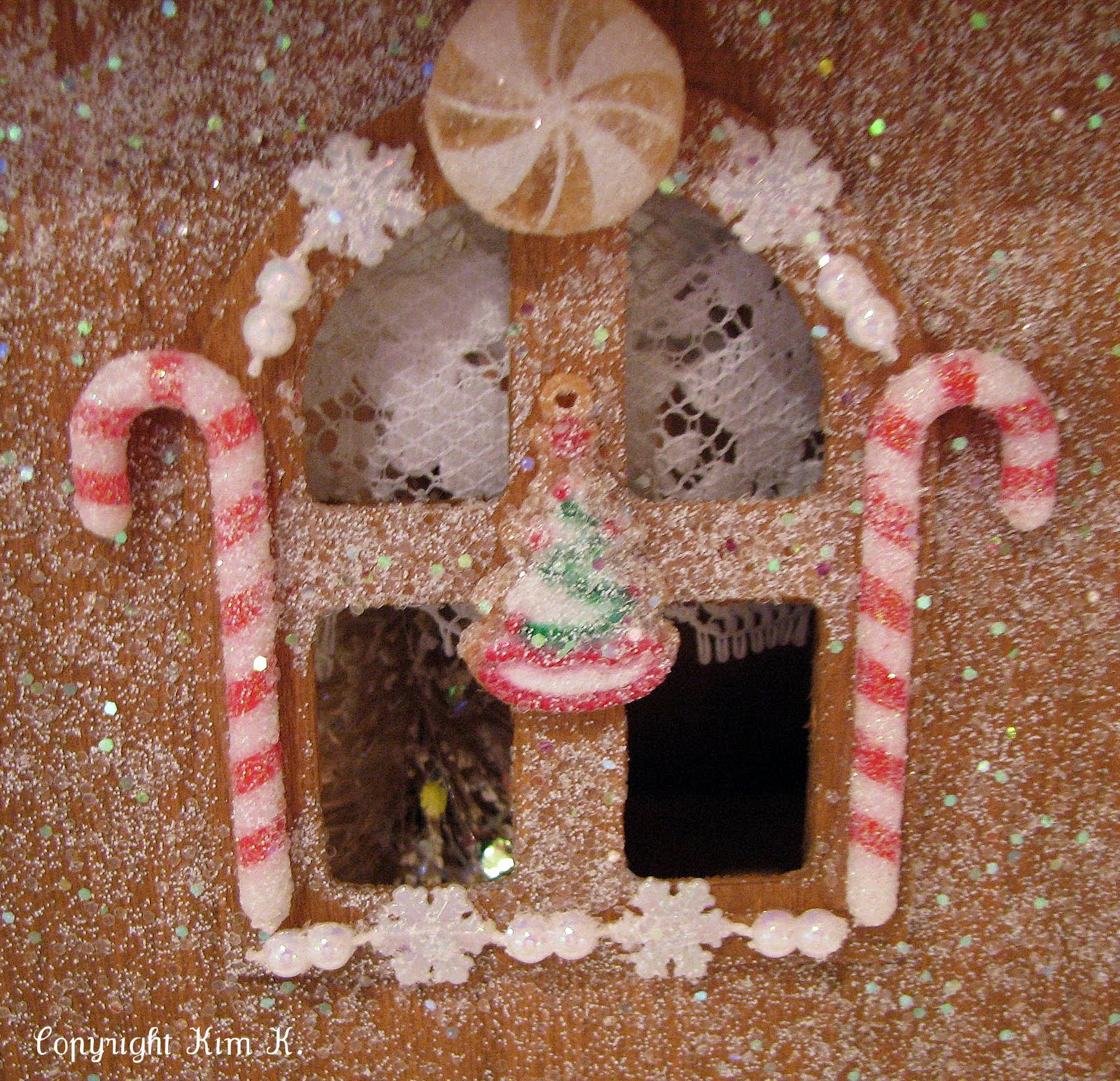 Gingerbread Kitchen Curtains Musings From Kim K Gingerbread Dollhouse
