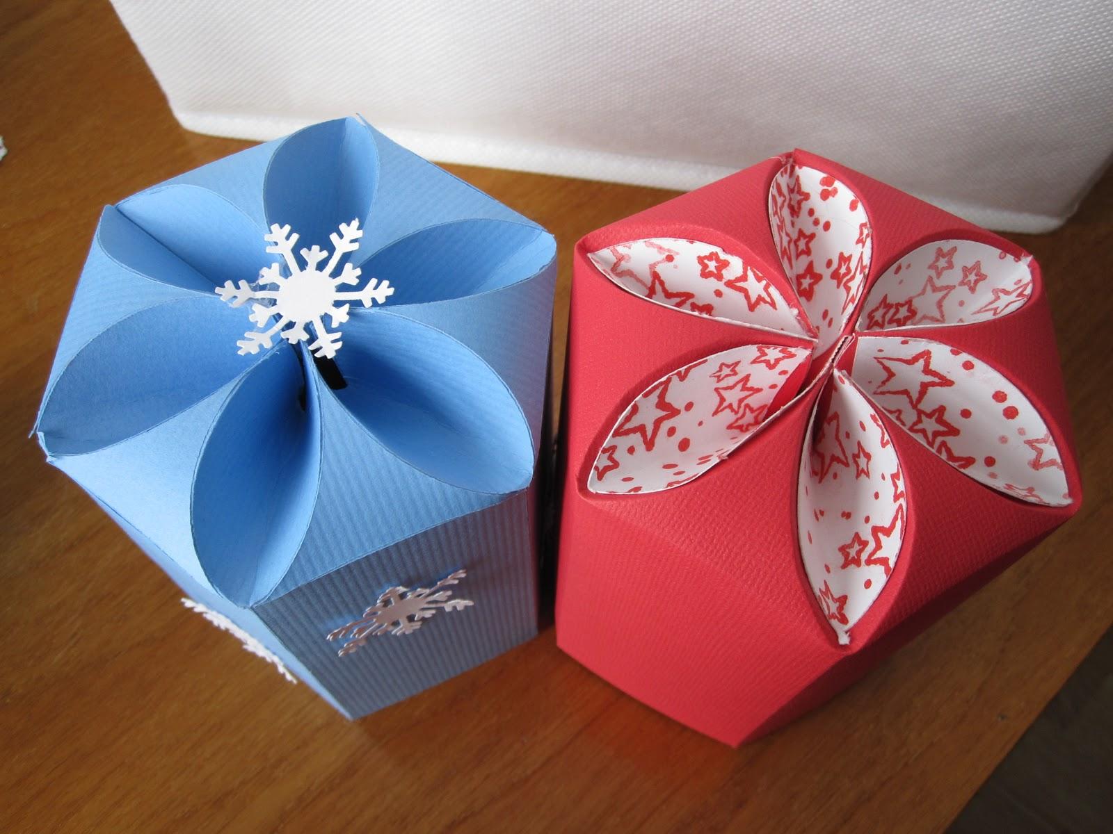 Paperpastime Petal Top Box Glitter Ornaments Fit