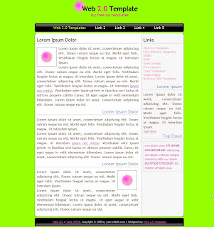 green background web 2.0 template