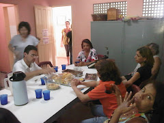 Luiza, Vânia, Fátima Tomé, Professores Olgarina, Francisco Roberto e Suely