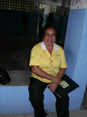Coordenadora - Dalia Guimarães na apresentação do Dia das Mães - 2010