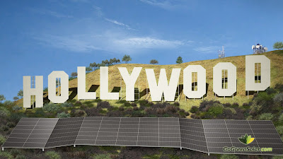 ggs.sphs.ground.mount Solar panels at the famous Hollywood sign?