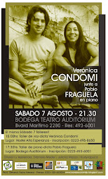 VERONICA CONDOMI: Taller de voz y concierto - Sábado 7  Agosto