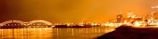 Memphis and the Hernando DeSoto Bridge at Night