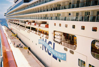 Norwegian Dawn alongside in Cozumel
