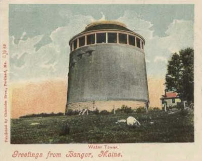 Bangor Water Tower, 1906 postcard