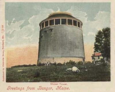Bangor Water Tower, 1906 postcard