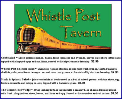 Menu: Whistle Post Tavern, Conyers, Georgia