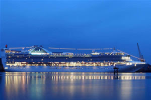 Grand Princess after dark