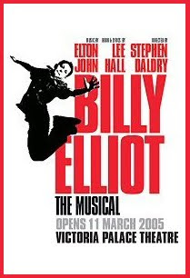 The pre-opening poster for Billy Elliott in London.