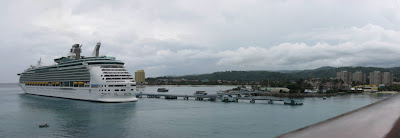 Panoramic photo of the harbor at Ocho Rios