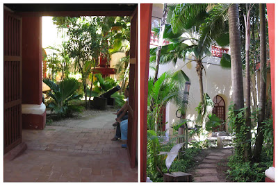 Colonial courtyards in Cartagena