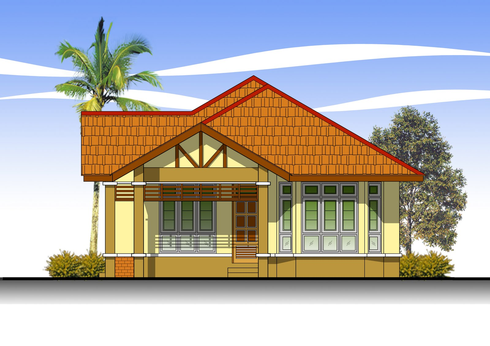 Of Model Rumah Banglo Setingkat Home Interior Design Ajilbab Portal ...