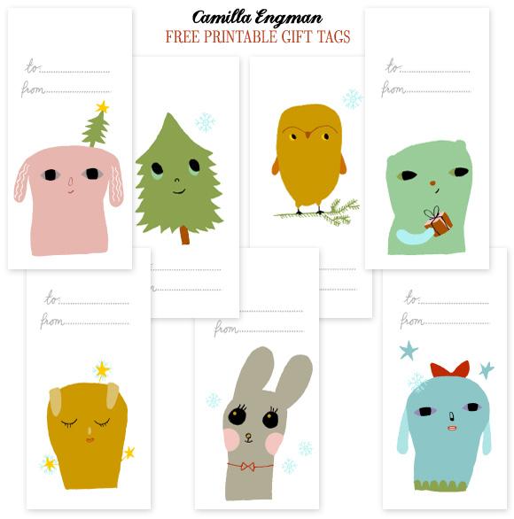 FREE printable christmas tags!   nooshloves