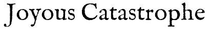 Joyous Catastrophe