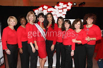With actress and model Julissa Bermudez , and the 2008 Go Red women in NYC