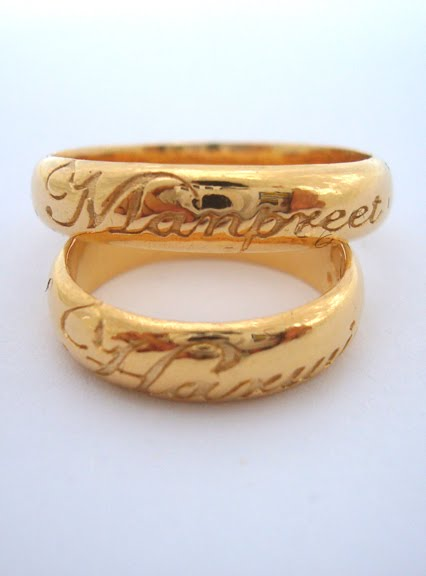 Gold Wedding Rings With Names Engraved 48 Marvelous She wanted his ring