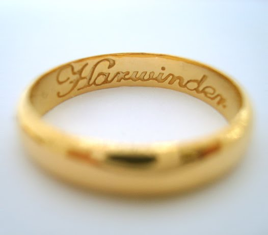 22k Gold Wedding Band 27 Beautiful She wanted his ring