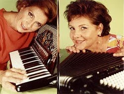 Gilda Montans e Meire Genaro fundaram o primeiro duo de acordeonistas no Brasil.
