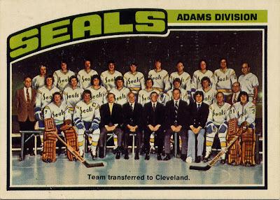 California Golden Seals, Oakland Seals, Cleveland Barons, O pee chee, 76-77, nhl, hockey, hockey card