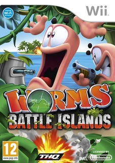 worms+ +wii Worms Battle Island   Nintendo WII