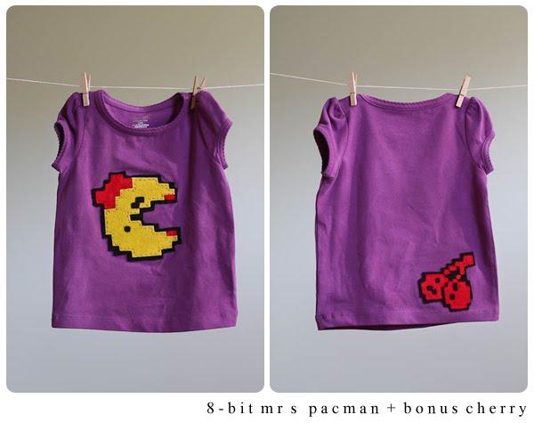 8-bit Felt Ms. Pac-man Tshirt