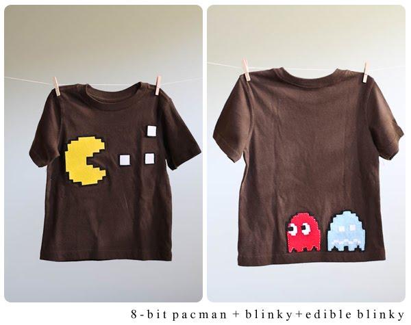 8-bit Felt Pac-man Tshirt