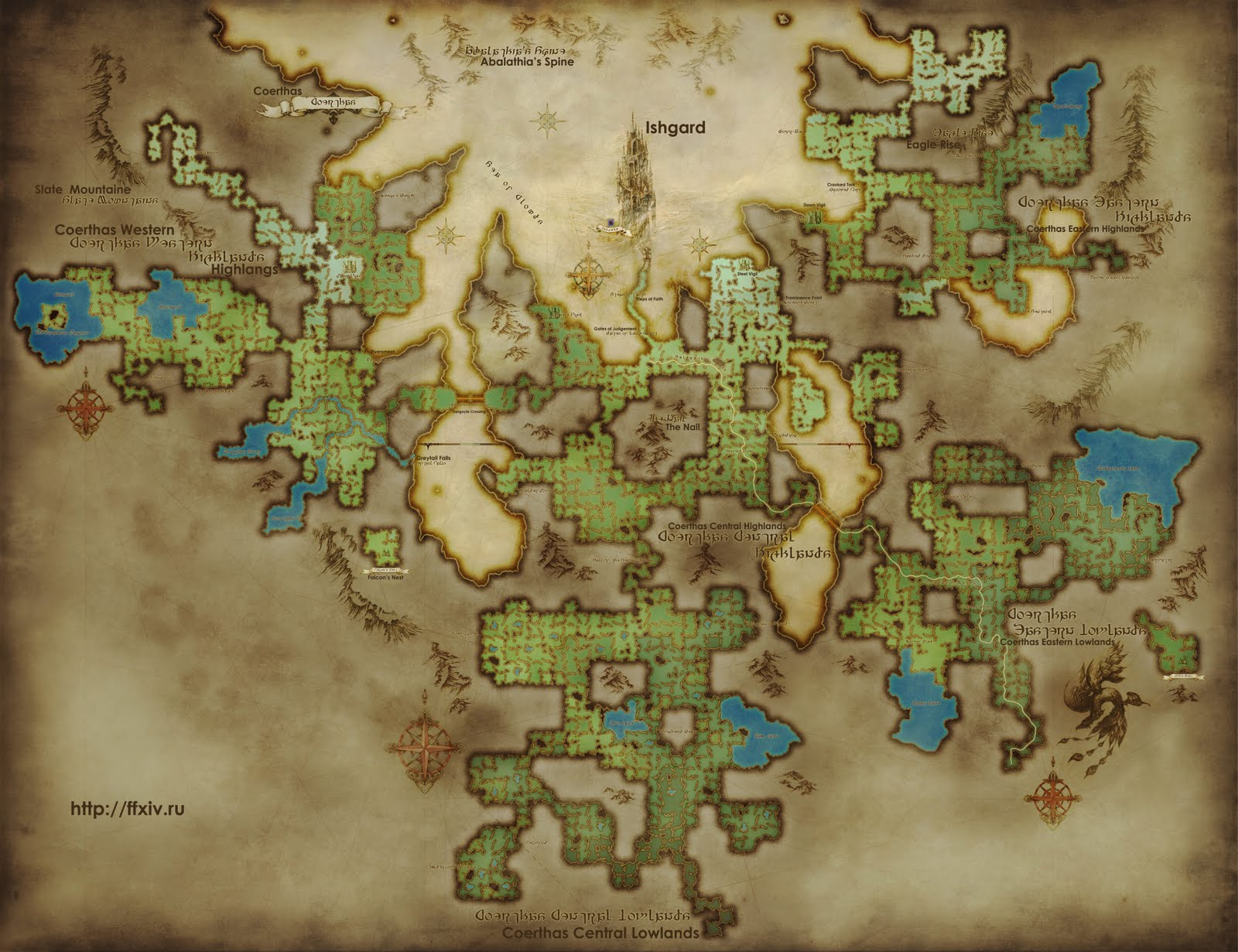 The Ishgardian New Image Of Ishgard S Map