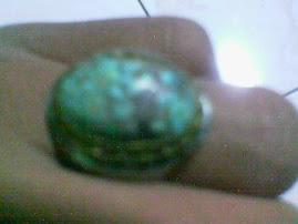 Cincin Batu Pirus Urat Emas