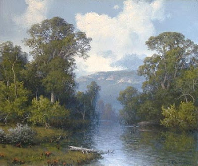 Robert Wood Artist Rocky Coast http://ppaintinga.com/robert-wood-paintings-landscapes/