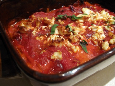 Tomato, Bacon and Feta Bake