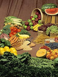 Fruit and vegetables - sources of beta-carotene and lutein. Photo courtesy of USDA, Agricultural Research Service