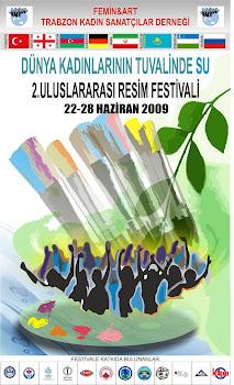 2. Uluslar arası resim festivali DÜNYA KADINLARININ TUVALİNDE SU